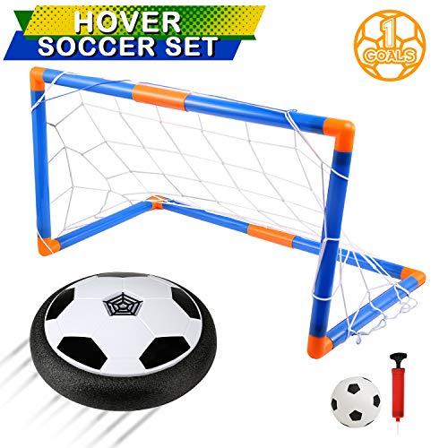 LinStyle Air Power Fußball Hover Power Ball Indoor Fußball mit LED Beleuchtung, Air Football mit Schaumpolster, Fussball Geschenke Spielzeug für Kinder Jungen und Mädchen