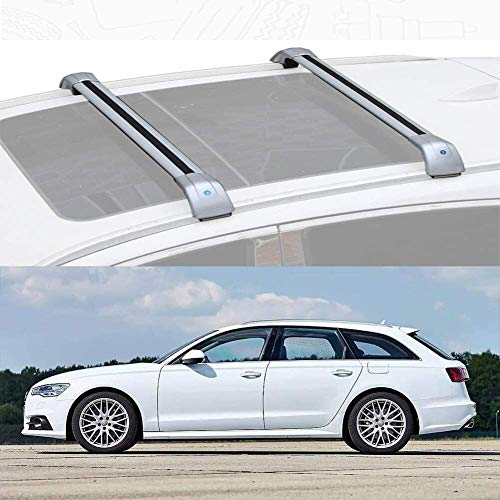 Mmhot Ajusta a Las Medidas A6 Avant aleación de Aluminio de Barras de Techo Barras de Techo de Carga de la Barra Cruzada for Audi A6 Avant 2013-18 Coche Barras de Techo Bares