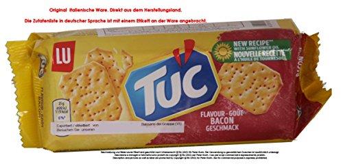 Tuc Bacon Gusto 11 x 100g = 1100g Cracker mit Schinkenspeckgeschmack Salzige Backware.