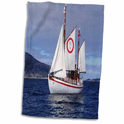 3D Rose norwegisches Rettungsschiff Handtuch Sporthandtuch 15x22