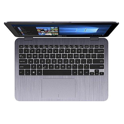 "2018 Newest Business Asus VivoBook Flip 11.6"" 2-in-1 HD Touchscreen Laptop/Tablet, Intel Dual Core N3350, 4GB DDR3 RAM, 500GB HDD, WiFi, FingerPrint Reader, Windows 10 Home, Stylus Pen Included"