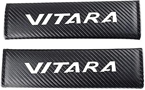 2 Piezas Fibra De Carbono Coche CinturóN De Seguridad Hombro CojíN, Para Suzuki Vitara, Cubrehombro De Seguridad, Estilo Interior