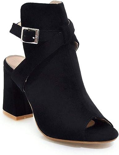 Sandales Boucle à Chaussures avec avec Boucle à Chaussures pour Femmes, De Plage Confortables (Couleur   C, Taille   42 EU)  prix ultra bas