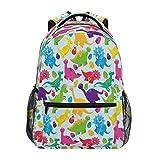 HaJie Rucksack mit buntem Dinosaurier-Ei-Motiv, Reisetagesrucksack, große Kapazität, lässiger Rucksack, Schultasche, Schultergurte, Computer-Laptop-Tasche für Damen, Herren, Teenager, Mädchen, Jungen