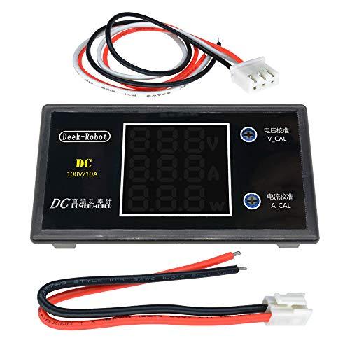 Modulo electronico Pantalla Digital DC 0-100V 0-10A 250W probador DC7-12V LCD Digital Tensión de alimentación de corriente del medidor del amperímetro del voltímetro del detector Amp for A-r-d