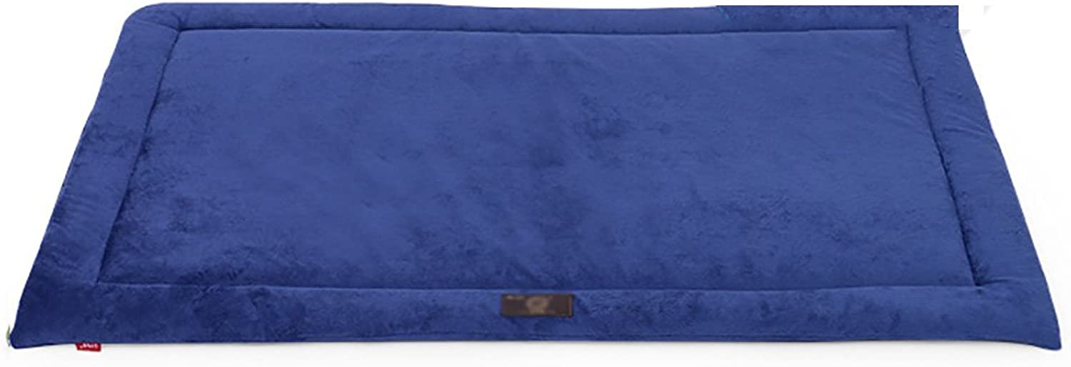 Pet Sleeping Pad Four Seasons Bed Pad Kennel Mat Summer Dog Cage Cushion Footpad (color   bluee, Size   L)