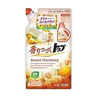ライオン トップ 香りつづくトップ Sweet Harmony つめかえ用 810g(液体衣料用洗剤)×12点セット (4903301215769)