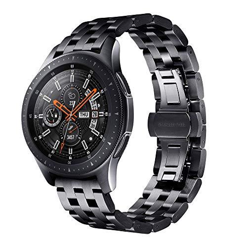 Galaxy Watch 46mm Bandas, Miya System Ltd Pulsera de Acero Inoxidable sólido...