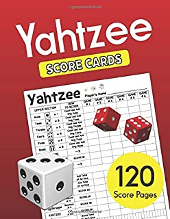 Yahtzee Score Cards: Clear Printing with Correct Scoring Instruction | Large size 8.5 x 11 inches 120 Pages Premium Quality | YAHTZEE SCORE SHEETS | Yahtzee score pads | Dice Board Game | Vol.3