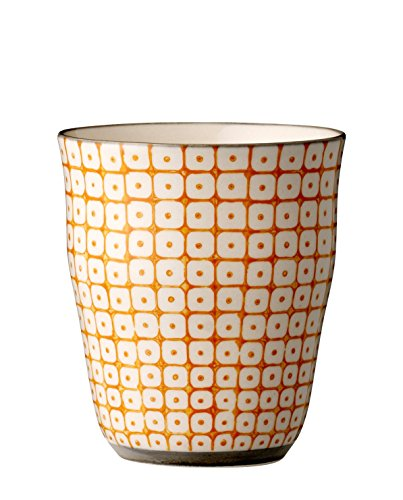 "Bloomingville ""Carla Becher Tasse Kaffebecher Teetasse Orange"