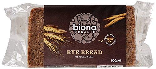 Biona Organic Rye Bread 500g (Pack of 6)