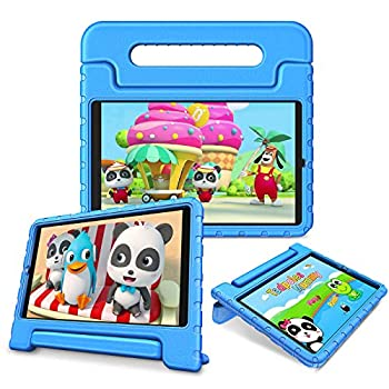 Fintie Shockproof Case for LG G Pad 5 10.1 FHD - Kids Friendly Light Weight Convertible Handle Stand Proctive Cover for 10.1 inch LG GPad 5 LMT600 Tablet  2019   Blue