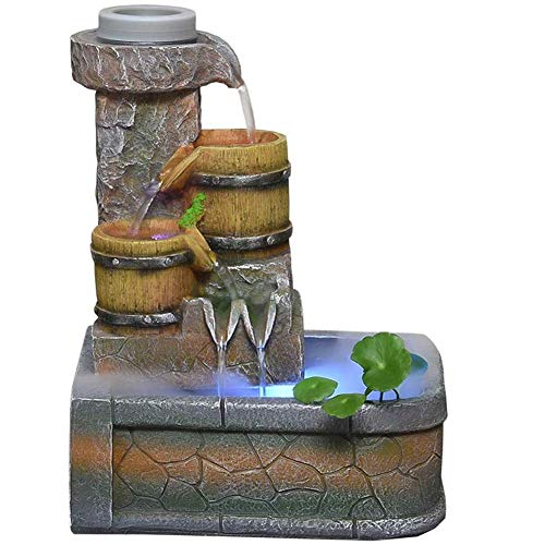 Kitchen Dining Living Room Fountain Chinese Creative indoor water fountain humidifier home decoration bonsai Desktop Fountain Aquarium ornaments crafts 26 * 35cm
