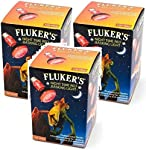 Fluker's 3 Pack of Night Time Red Basking Lights, 100 Watt, for Heating Terrariums and Nocturnal Reptile Viewing