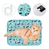 SCOBUTY Pet Heating Pad, Pet Heat Pad, Pet Electric Heating Pad,Pet Heat Mat,Waterproof and Easy to Clean,3 Adjustable Temperature,USB Interface,Suitable for Kittens,Puppies
