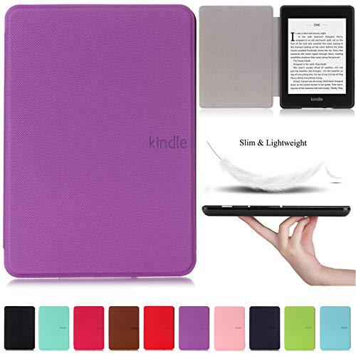 Kindle Paperwhite 10th Generation 2018 Case,Artyond PU Leather Case With Auto Wake/Sleep Feature Smart Cover Thinnest and Lightest Cover For Amazon Kindle Paperwhite 10th Gen 2018 Released (Purple)