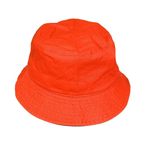Falari Men Women Unisex Cotton Bucket Hat Large/X-Large Orange