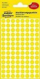 AVERY Zweckform 3013 selbstklebende Markierungspunkte (Ø 8 mm, 416 Klebepunkte auf 4 Bogen, runde Aufkleber für Kalender, Planer und zum Basteln, Papier, matt) gelb