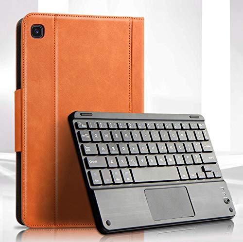DANYCU Compatible con Samsung Galaxy Tab S6 Lite Case Tablet Shell con Teclado Bluetooth Cubierta Protectora de Cuero a Prueba de Golpes para Mujer Hombre Premium Modern Tablet Funda,Marrón