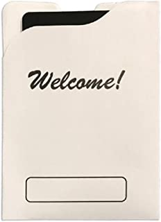 Hotel Supplies, Welcome Hotel Key Card Holder, White Hotel Room Key Card with Room Assignment (1000)