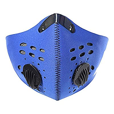 LUYANhapy9 Face Mask Unisex PM2.5 Anti-dust Windproof Breathable Outdoor Sport Cycling Fack Mask(Blue)