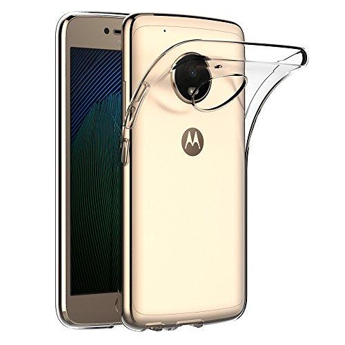 AICEK Lenovo Moto G5 Plus Hülle, Transparent Silikon Schutzhülle für Moto G5 Plus Case Crystal Clear Durchsichtige TPU Bumper Motorola Moto G5 Plus Handyhülle