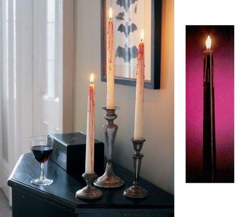 Pleureur-bougies 3 bougies en forme de Rose Style gothique