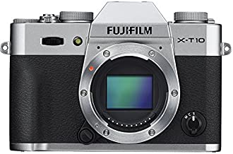 Fujifilm X-T10 Systemkamera Gehäuse (16,3 Megapixel CMOS II Sensor) silber