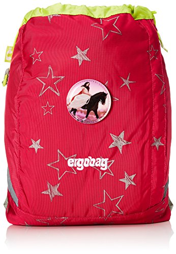 ERGOBAG cubo Sportspack 16 Turnbeutel, 45 cm, 11 L, Pink Stars