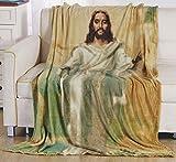 Décor&More Jesus Christ Religious 50' x 70' Oversized Super Soft Microplush Throw Blanket