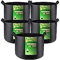 5-Pack VIVOSUN 15 Gallon Plant Grow Bags