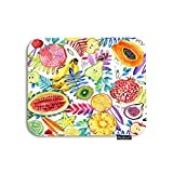 Moslion Fruit Mouse Pad Watercolor Tropical Paradise Watermelon Banana Pineapple Palm Leaf Gaming Mouse Pad Rubber Large Mousepad for Computer Desk Laptop Office Work 7.9x9.5 Inch