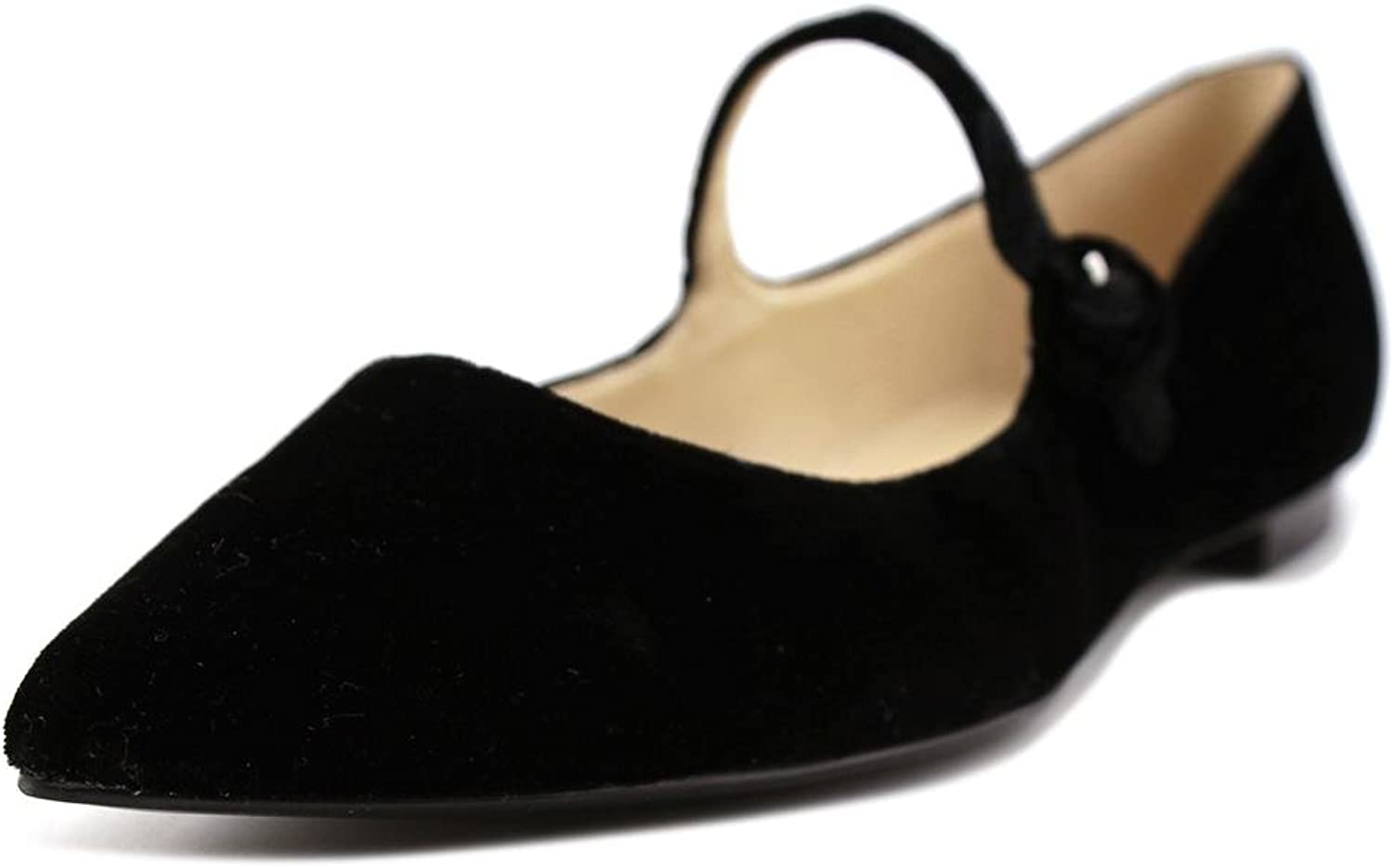 Marc Fisher Womens Stormy2 Pointed Toe Mary Jane Flats, Black, Size 6.5