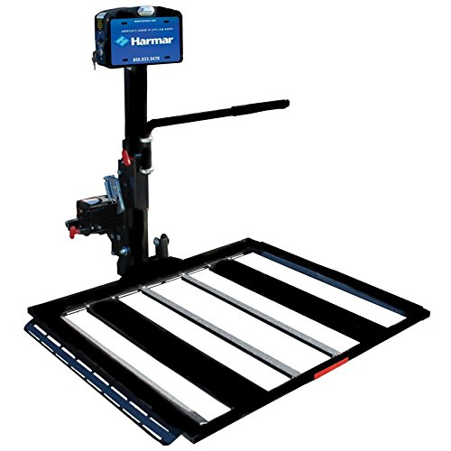 Harmar Mobility AL560 Power Wheelchair Lift Outside Fully Automatic Carrier with II/III Hitch Adapter & Wiring Harness & Swing-Away Arm -  AL-560-WH-HASW
