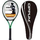 OPPUM 27' Pro Tennis Rackets, Adult Women and Men Student Beginners Tennis Rackets Training Tennis Racquets (T200 -(Black Green))