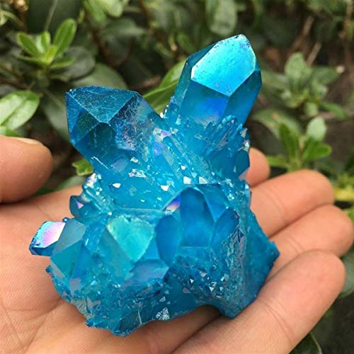 DANHUI Anillo de Agua de Llama Azul Cielo Cristal de Cuarzo vug...