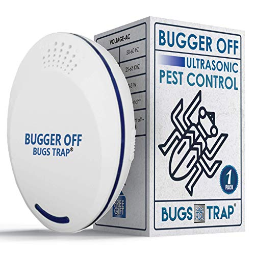 BUGS TRAP Ultrasonic Pest Repellent - Silent Indoor Plug-in Pest Control Mosquito Repellent Device for Home, Rooms - Safe, Humane Repeller for Flies, Rat, Rodents, Spiders, Roaches, Bugs - 1-Pack