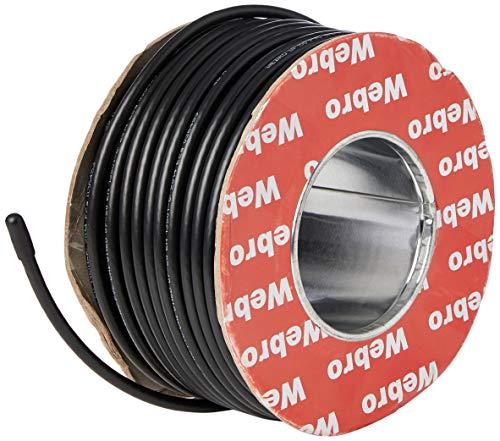 Webro WF100 50 m Coax Cable and Clips - Black