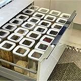 Contenedores de almacenamiento de alimentos herméticos Conjunto con tapas, cocina Caja de almacenamiento de alimentos Juego de contenedor Organizador Cuadrado Párlaco Párrolas Aparcadas Pasteleros
