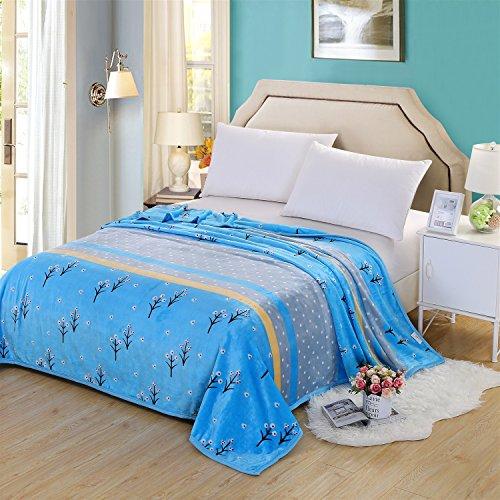 sheng Nuage couverture de coton mink couverture épaisse épaisse couverture blanche couverture enfant bleue (200x 230 cm) ( taille : 200*230cm )