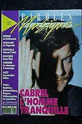 Paroles & Musique 1989 09 n° 21 CABREL PRINCE KARAJAN ANGE BAMBOU KASSAV TEARS FOR FEAR