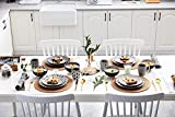 Vancasso, Haruka Kombiservice aus Porzellan, 40 TLG. Rund Geschirr Set, mit Kaffeebecher, Müslischale, Dessertteller, Flachteller und Tiefteller, Tafelservice für 8 Personen - 9