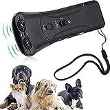 Herramienta Ultrasónica de Perros de Entrenamiento de Mano Entrenador Repelente de Perros de Mano Repelente de Perros de Doble Canal Dispositivo Evitar Ladridos de Perros