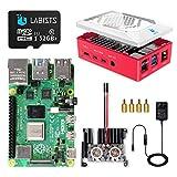 LABISTS Raspberry Pi 4 8GB(技適マーク入)MicroSDHCカード32G/Raspbianシステムプリインストール/アルミニウム合金ヒートシンク(ファン付き)/改良されたケース/カードリーダ /5.1V/3A Type-C スイッチ付電源/MicroHDMI-to-HDMIケーブルライン/日本語取扱説明書/24ヶ月保証