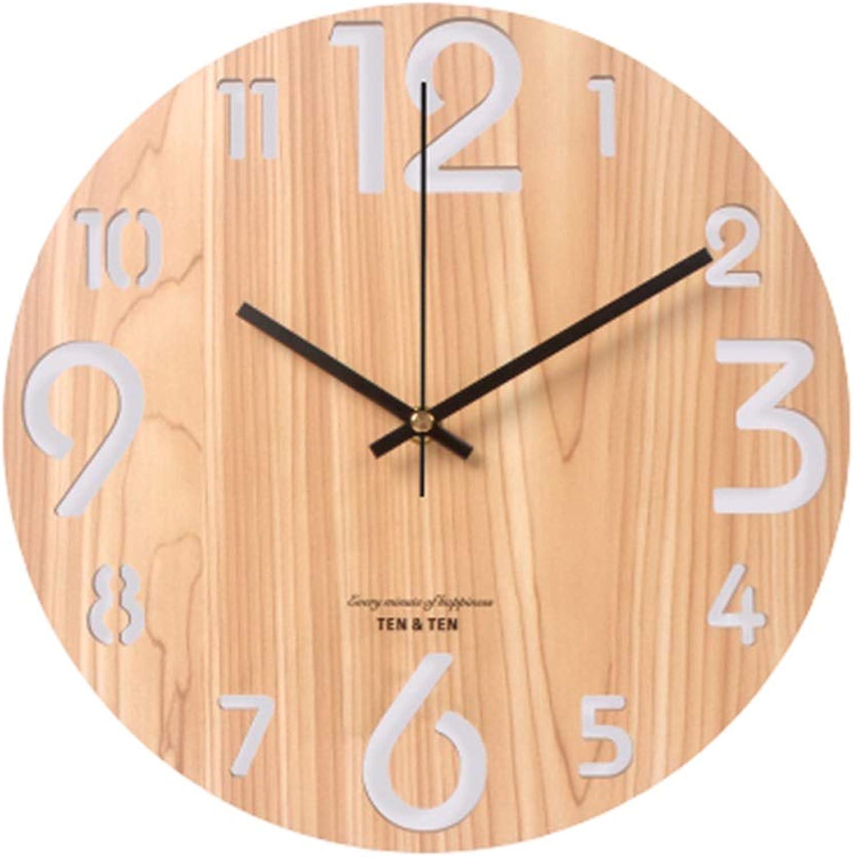 Nawzhq 3D Classic Quartz Large 12 Reloj de Parojo sin silenciamiento de garrapatas, Estilo Moderno Adecuado para la Cocina en casa Sala de Estar Dormitorio Clock