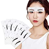 24 Pairs Eyebrow Stencils,12 Eyebrow Shapes Reusable Eyebrow Template Shaping Stencils, Eyebrows Grooming Stencil Kit for Women Girls