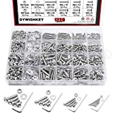 DYWISHKEY 1220 PCS M2 M3 M4 M5, 304 Stainless Steel Hex Button Head Cap Bolts Screws Nuts Washers Assortment...