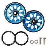 Easy Wheels para Brompton, bicicleta plegable silenciosa de aleación de aluminio, ligera y con estructura de rodamiento, 64 x 8,6 mm, 1 par
