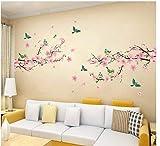 Ziruixiong Sakura Adhesivos De Pared Habitaciones Para Niños Dormitorio Sala De Estar Arte De Bricolaje Pvc Hermoso Árbol De Flores Papel Tapiz Extraíble Decoración Del Hogar Nuevo