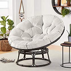 commercial Better Homes  Gardens Papa Sun Armchair (with cloth cushion) (gray pumice stone) papasan chairs